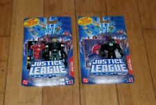 DC Justice League Unlimited Action Figure lot of 2 Green Arrow & lantern 1B