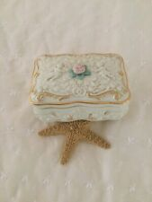 Shabby vintage Lenox Songs of the Heart Fine Porcelain Vintage Music Box