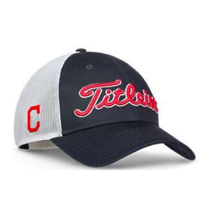 Titleist Cleveland Indians MLB Trucker Mesh Adjustable SnapBack Golf Hat Cap NEW