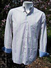 Tommy Hilfiger Premium 140's 2 ply Cotton Striped Men's button down shirt Sz L