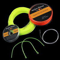 WF 2/3/4/5/6/7/8F Fly Line Combo 100FT Fly Fishing Line Backing Leader Tippet