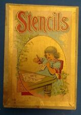 Antique vintage STENCILS Milton Bradley art drawing tracing paper