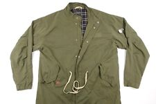 BARNEY COOLS ARMY GREEN LARGE LONG JACKET MENS DEFECT