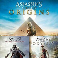 Triple Bundle  ASSASSIN'S CREED Odyssey  Origins Ezio XBOX ONE LEGGI DESCRIZIONE