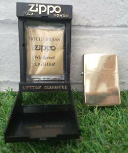 Zippo Slim Solid Brass Lighter-1932-1988-Vintage with case