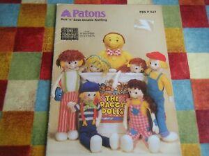 The Raggy Dolls Knitting Pattern-Patons PBN 347