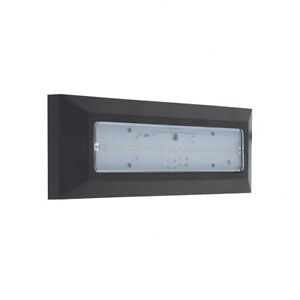 2W LED Brick Wall Light Modern Outdoor Black Flush Surface Mounted Lamp IP44
