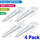 4x Westernpowers 36W LED Shop Light Fixture Work Garage Light 6000K White 4FT