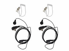 2 x FBI Style Police Security Earpiece For Baofeng UV-3R /5R Radio Listen Only