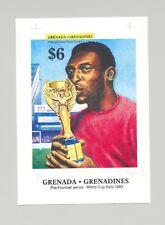 Grenada Grenadines #1052 Pele, Soccer 1v S/S Imperf Proof