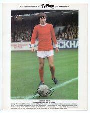GEORGE BEST Manchester United Northern Ireland Football  Typhoo Premium issue