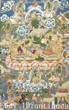 Tibet Cloth Silk Mahayana Green Tara Buddha Thangka Tangka Mural Wall Hanging
