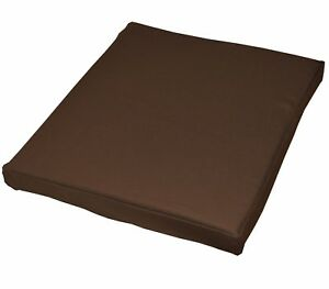 aa153t Brown Plain Cotton Canvas 3D Box Sofa Seat Cushion Cover*Custom Size*