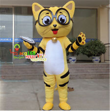 Cat Mascot Costume Adults Fancy Dress Animal Cosplay Parade Outfit Party Suit US