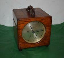 More details for vintage benzing wood cased pigeon timer clock.