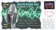 """COVERSCAPE computer designed UNESCO """"World Radio Day"""" 2014 event cover"""