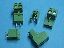 10 pcs 5.08mm Pitch 2way/pin Screw Terminal Block Connector Green Color L