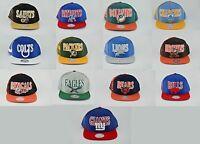 NEW NFL Mitchell & Ness Mens Laser Stitch Snapback Hat Cap