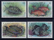 1993 SAMOA FISH SET OF 4 FINE MINT MNH/MUH