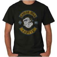 Popeye The Sailor Man Vintage Nautical Cartoon Adult Short Sleeve Crewneck Tee