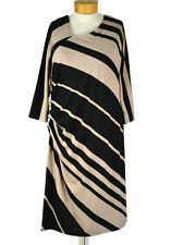 New! $119 COLDWATER CREEK Ruched Shift Dress Size 20 Women's Black & Tan