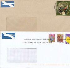 Südafrika/South Africa      2  Luftpostbriefe mit Fensterkuvert und Werbestempel