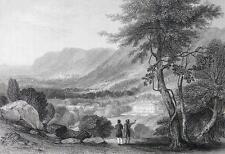 ITALY Piedmont Waldensian College at La Tour - Engraving Antique Print