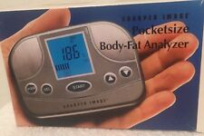 SHARPER IMAGE POCKET SIZE BODY FAT ANALYZER & CARRY CASE LARGE LCD STORES DATA