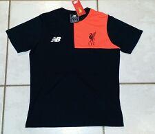 NWT NEW BALANCE BLACK Liverpool F.C. Elite Training T-Shirt Youth Medium