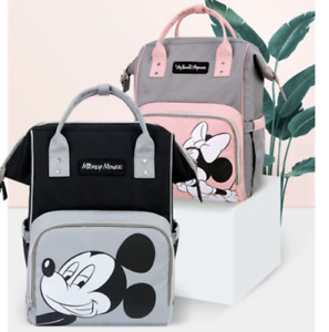 2021 Disney Bags Diaper Nappy Maternity Bag Minnie and Mickey Mouse Backpack