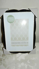 "Fetco Home Decor ""Alegria"" Picture Frame 4x6 Inches Matted Luxe Black & Gold NEW"