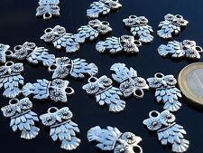 30 Auf 2000 Anhänger Zamak Eule Flockenfutter (ANI-13) Tier Kleine Amulett Vogel