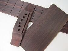 Slotted Guitar Fretboard, Bridge & Head veneer Indian Rosewood USA Luthier Made