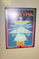 BALLY Elektra pinball flyer brochure pamphlet BRAND NEW. Year 1981.