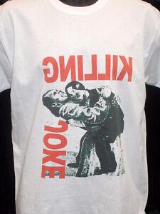 Killing Joke - 1982 Retro Image Design White T Shirt, post punk