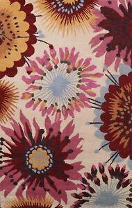Floral Modern Oriental Area Rug Home Decor Hand-Tufted Wool Carpet 5x8 Foyer