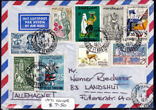 French Tunisia 1971 Airmail Cover To Germany - Addressed