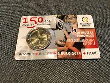 2 Euro Commémo Belgique 2014 BU Croix Rouge Coin Card BU FDC Type I - Belgium