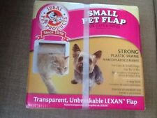 "Ideal Pet Flap/Cat Flap White Small  pets to 12 lbs Cutout Size 7 1/2"" X 7 1/4"""