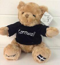 CORNWALL TEDDY PERRAN BEAR 25CM TALL - CORNISH SOUVENIR - GOOD QUALITY SOFT