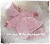 Honeydropdesigns PITTER PATTER  * PAPER KNITTING PATTERN * Reborn/Baby Layette