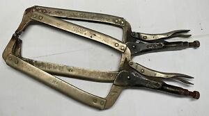 Lot of 2 Vintage Petersen Vise Grip 18R Welding Locking Clamp Plier Dewitt USA