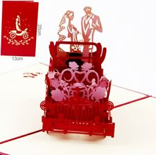 3D Pop Up Card Wedding Vintage Car Gift Romantic New Hot Lovers Greeting Cards