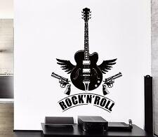 Wall Stickers Vinyl Decal Rock`n`Roll Guitar Guns Music Rock Decor (z2143)