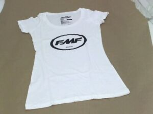 FMF Racing MX GP Motorcycle Womens Classic Don Scoop Neck T-Shirt Small White
