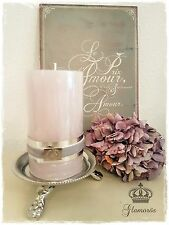 Lene Bjerre Kerzenteller Kerzenhalter Kerzenständer Silber Tablett Stumpenkerzen