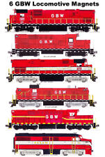 Green Bay & Western Locomotives 6 magnets Andy Fletcher