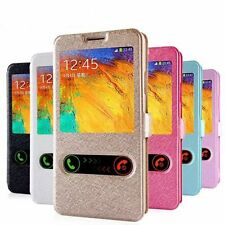 Flip Stand Wallet Slide Window Phone Case For iPhone X SE 5 6 7 8 Samsung S8 S9