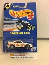 #5 Toyota MR2 Rally #122 * White * Blue Card Hot Wheels * E38