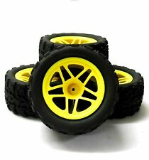 8112 1/10 Scale Monster Truck Wheel and Tyre Rim Yellow HSP x 4 Star V2